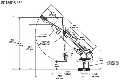 Спринклер SR150DS размеры