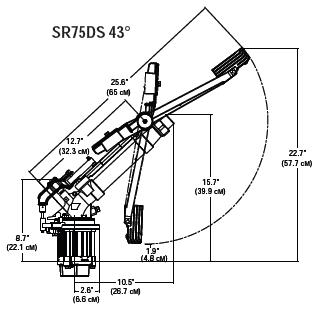 Спринклер SR75DS размеры