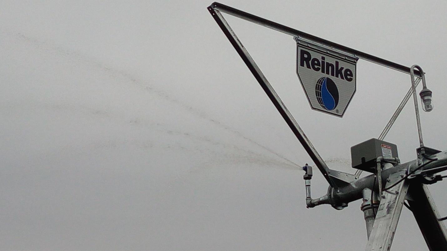 Дождевальная машина Reinke в работе