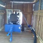 Монтаж барабанной дождевальной машины и шланговой системы